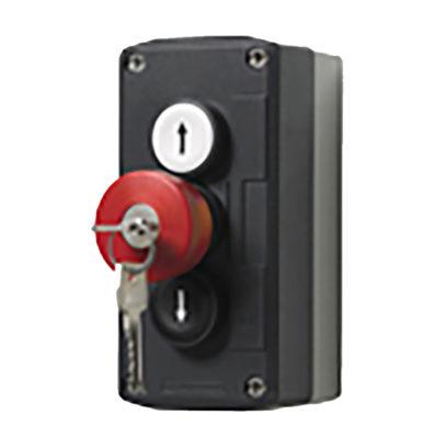 3-NASSAU knaps trykboks med nøgle