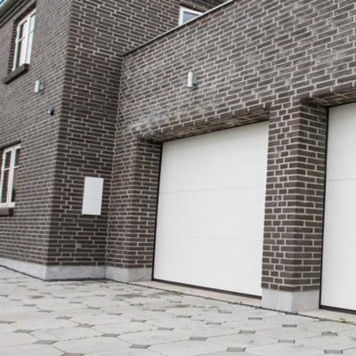 garageport softline granitt i hvit